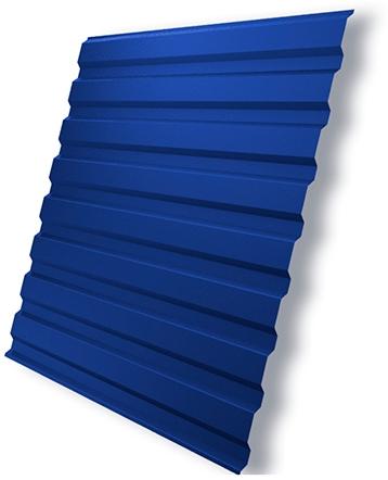 Синий профлист для кровли балкона