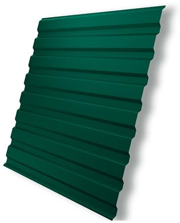Зелёный профлист для кровли балкона