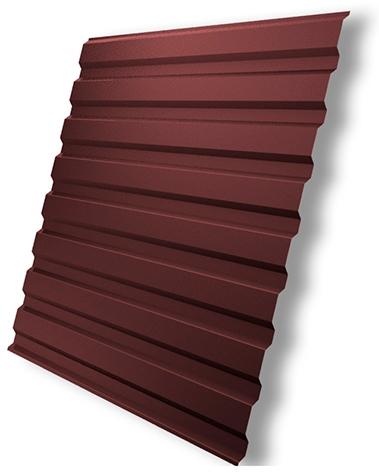 Красный профлист для кровли балкона